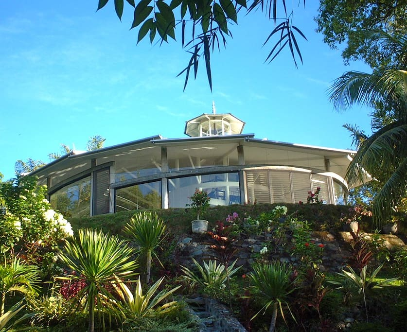Main villa from below