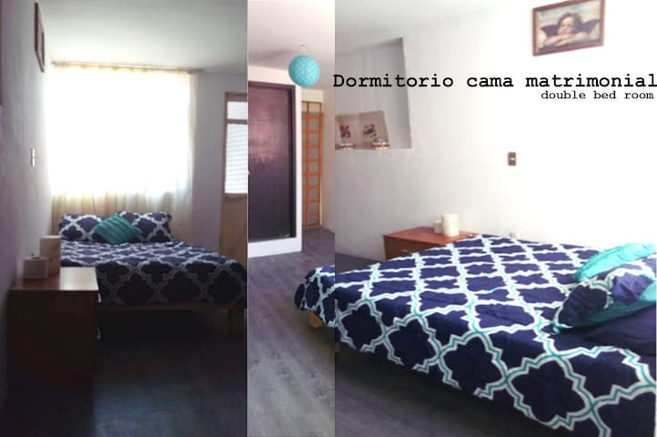 Dormitorio 4 con cama de matrimonio y baño privado