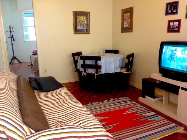 Aconchegante apartamento à beira-mar, em Itararé - São Vicente - Byt