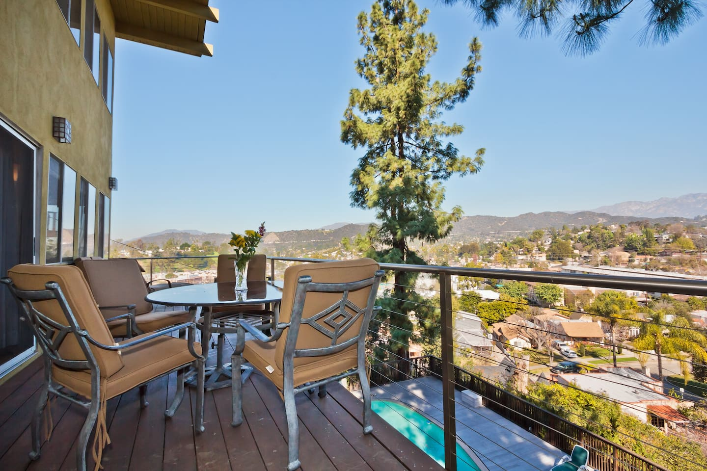 Enjoy the view from the balcony!