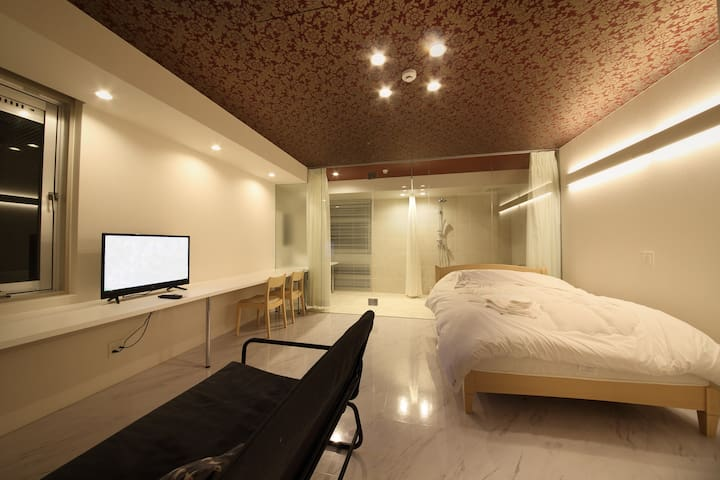 Living room & bed