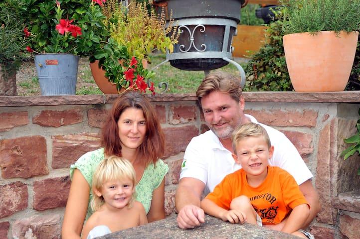 Die Gastgeberfamilie Leutz