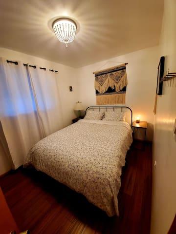 Downstairs Bedroom 1 With Queen