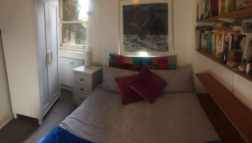 private double bed in quiet street