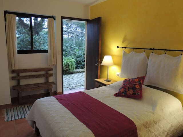 """""""Girasol""""           Room  double bed and washroom"""