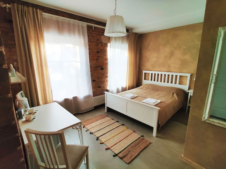 Modern couple's getaway near lake in Trakai center