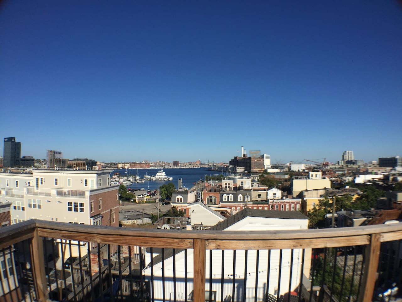 Charm City Retreat with Rooftop Harbor Views! - Townhouses for Rent ...