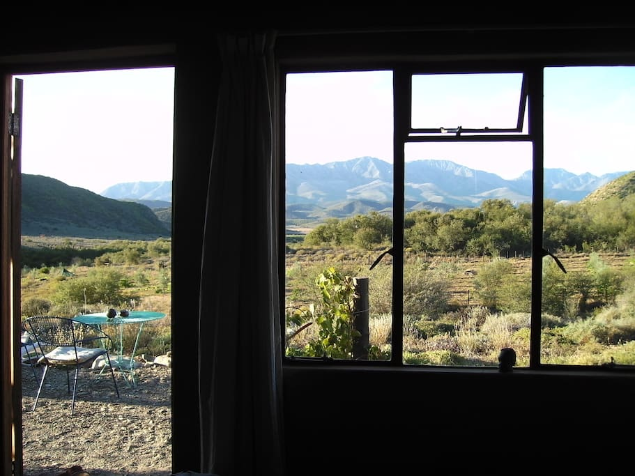 The view from the cottage lounge