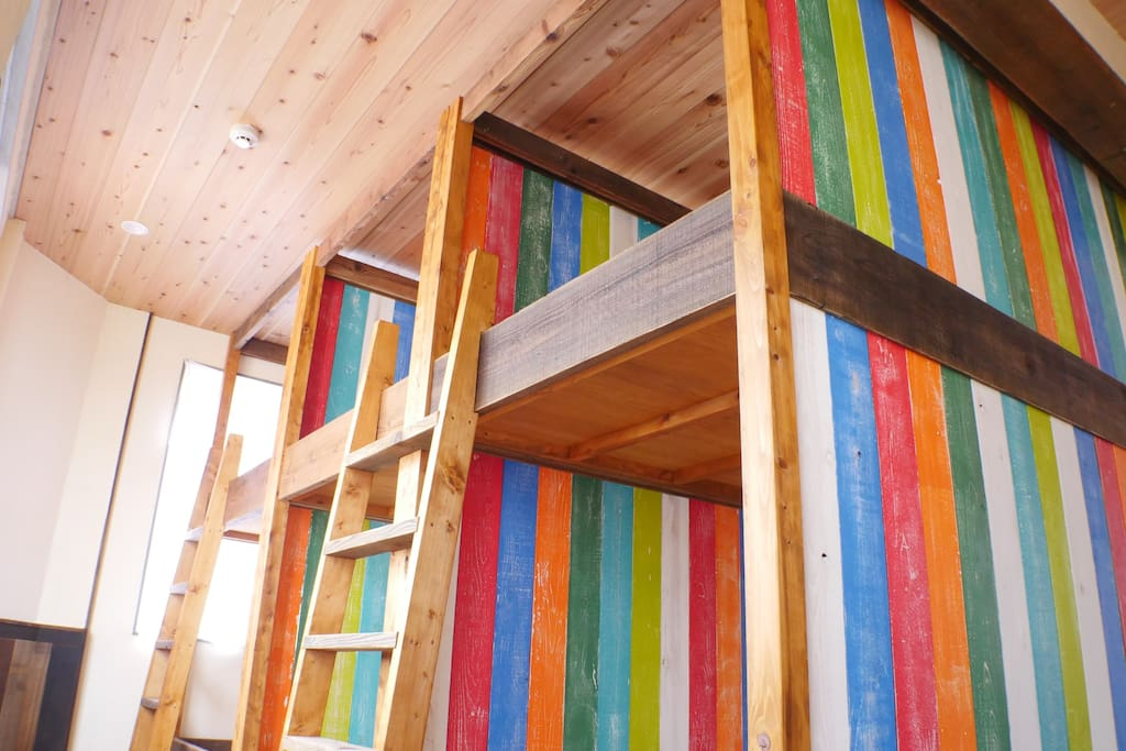 cabin beds with wall (all rooms)