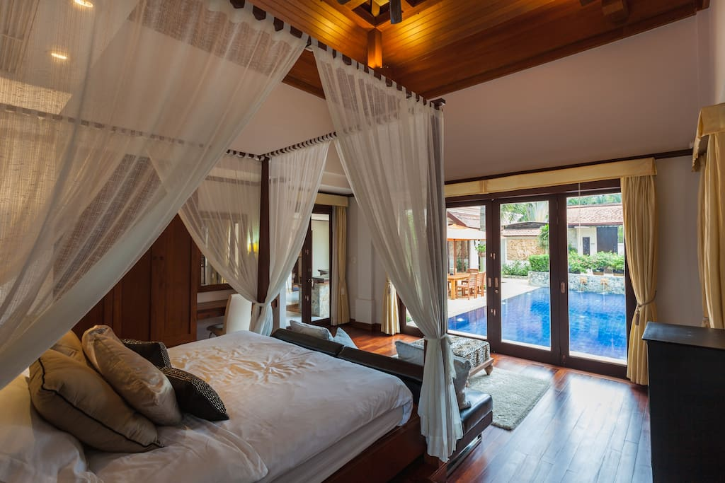 Master Bed room facing Pool