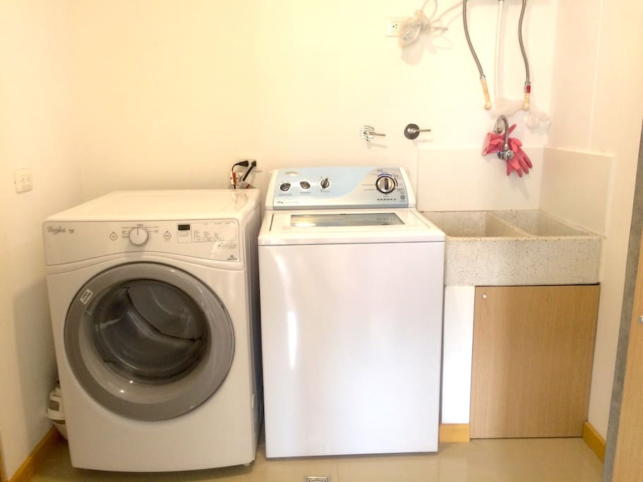 Laundry room with w & D