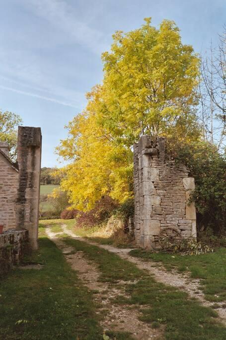 Gate way in autumn