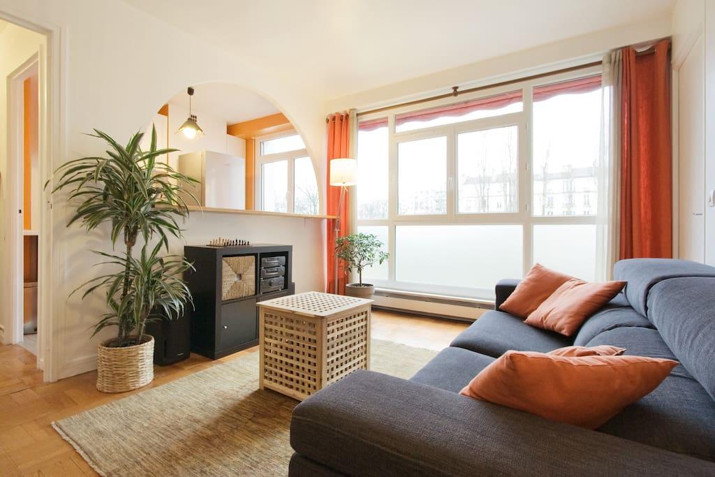 Chambre calme et lumineuse appartements louer paris for Porte de la villette salon orientation