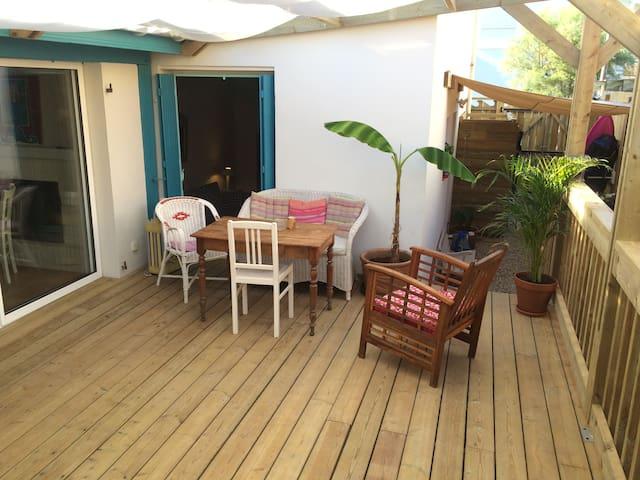 La Villa Tamaris chambre lagoon à 3 lits - Vieux-Boucau-les-Bains - House