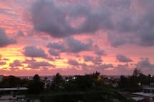 Good morning, Puerto Morelos!  Sunrise view from the upper roof deck.