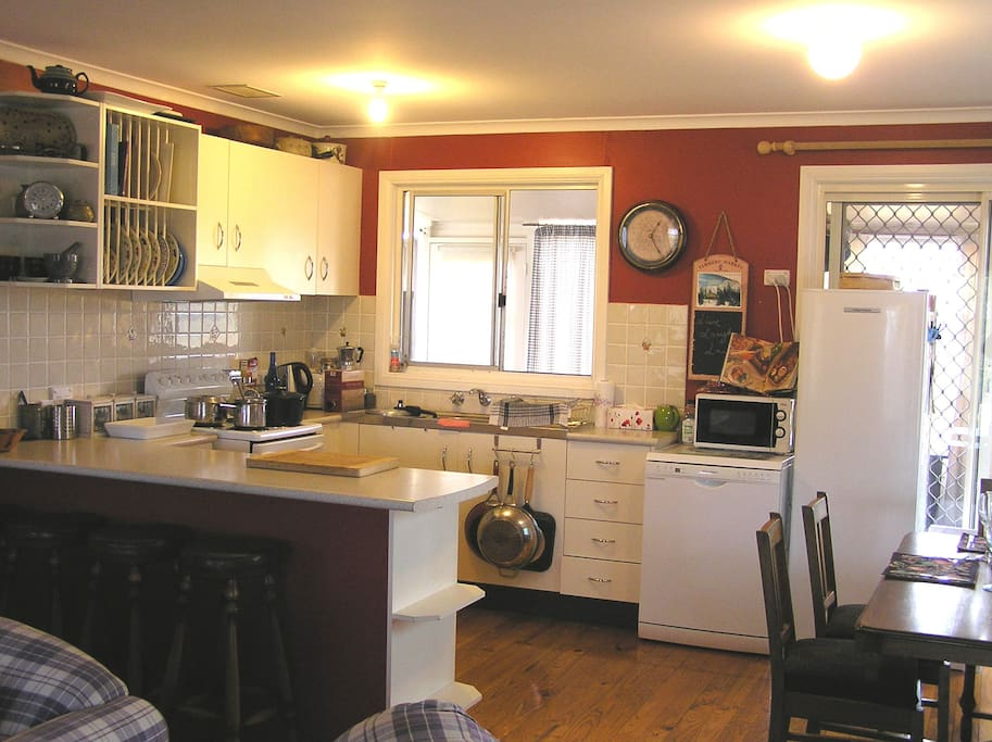 Very well equipped kitchen, there is everything you could need, including a dishwasher and microwave.