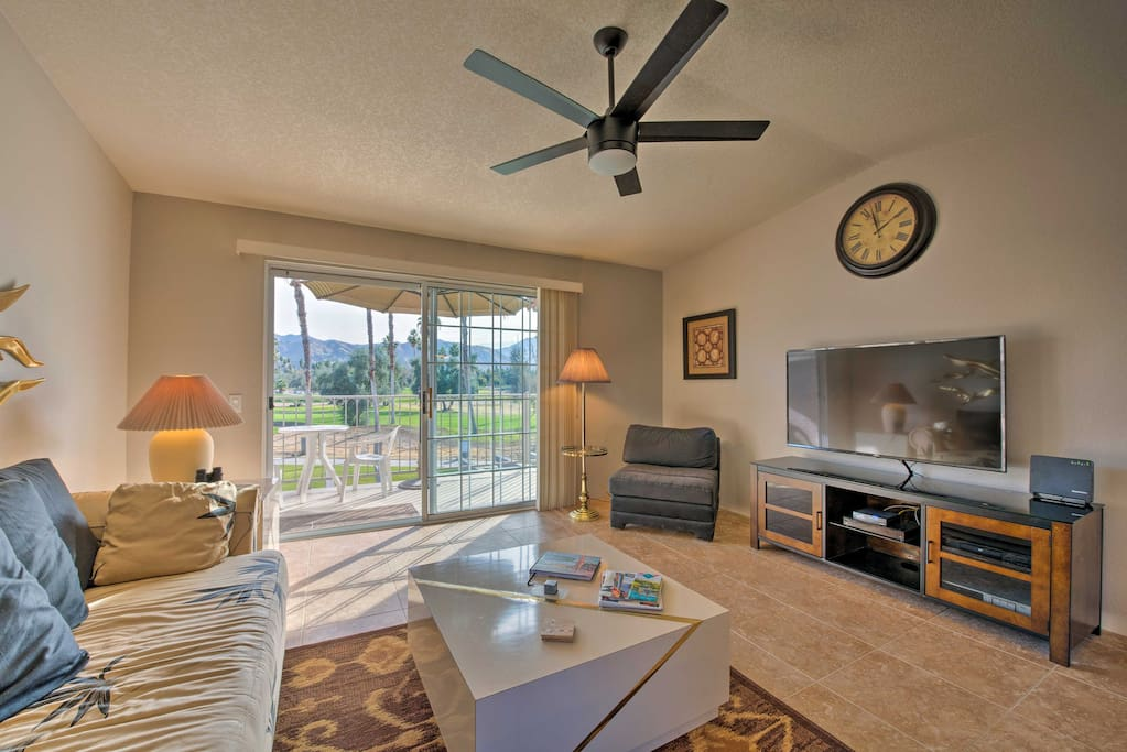 The bright and breezy living area fosters a peaceful ambiance.