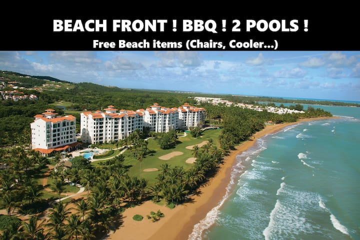 Beach Front & pool & bbq & Next to El Yunque! - Palmer - Apartment