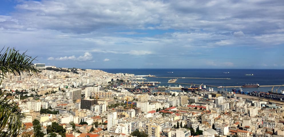 Amazing view of the bay of Algiers!