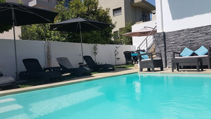 Anjo Villa pool apartment near the Athens Airport
