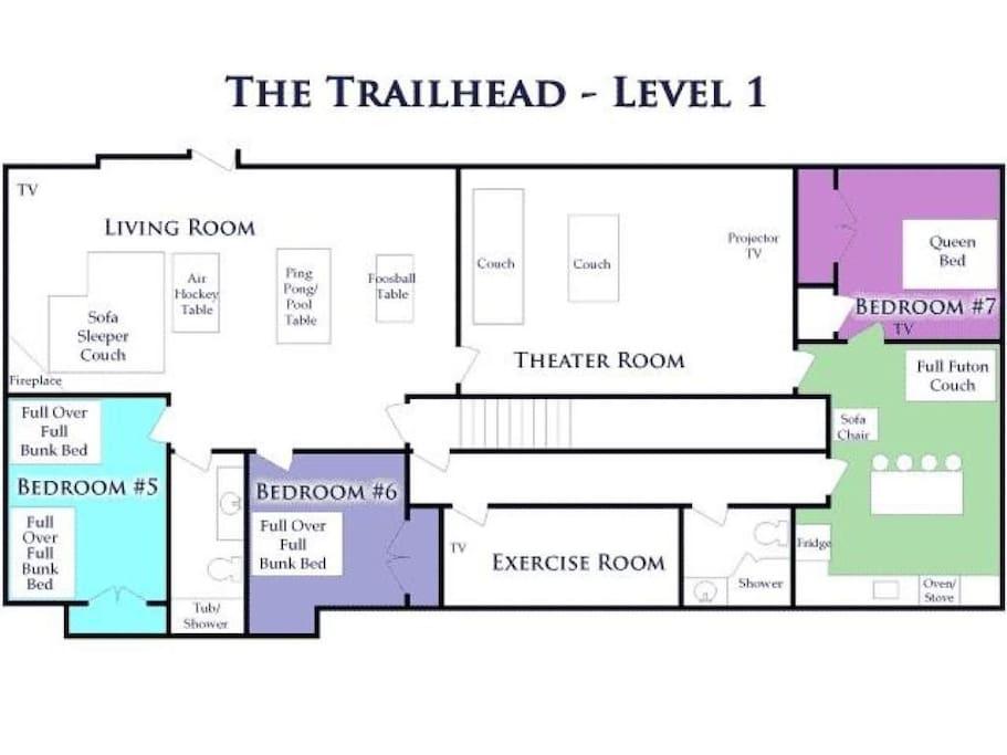 Floor plans - level 1
