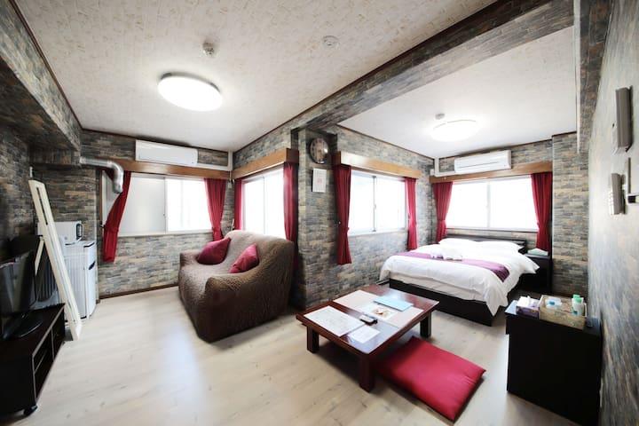 6♪Large Studio Top floor Honeymoon Peace Park Miya