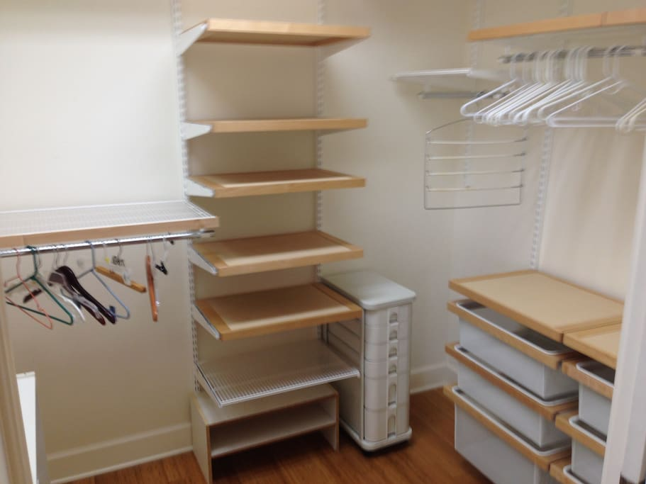 Spacious Closet in Master