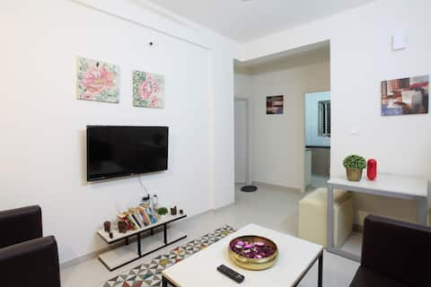 Super-Cozy 1 BHK, with terrace near E city. kudlu