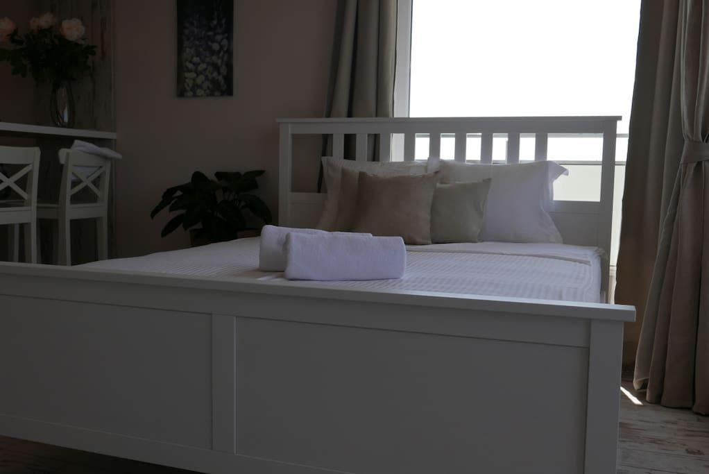 Big and comfy bed