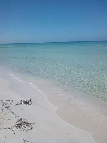 Vacance pied dans l'eau