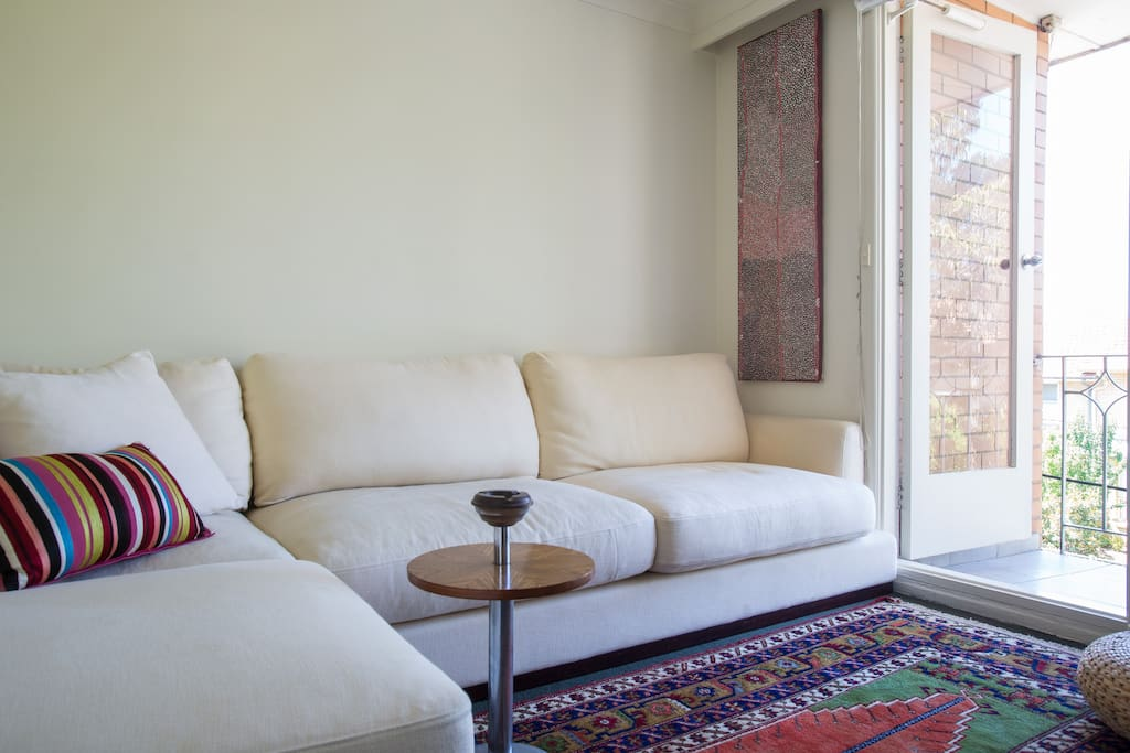 This is a sofa that you will never want to get off once you sit on it, it is so incredibly comfortable! Perfectly positioned to take in city views too!