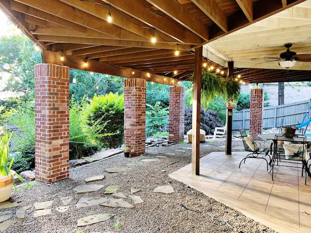 Tons of natural beauty surround the patio and backyard.