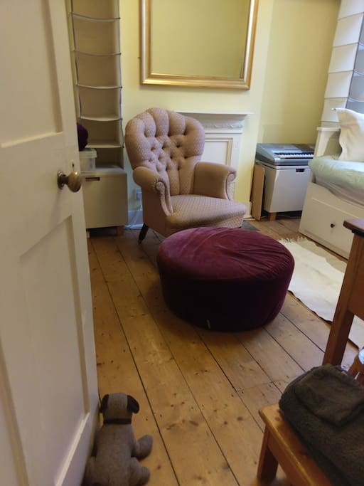 quiet room at back of house