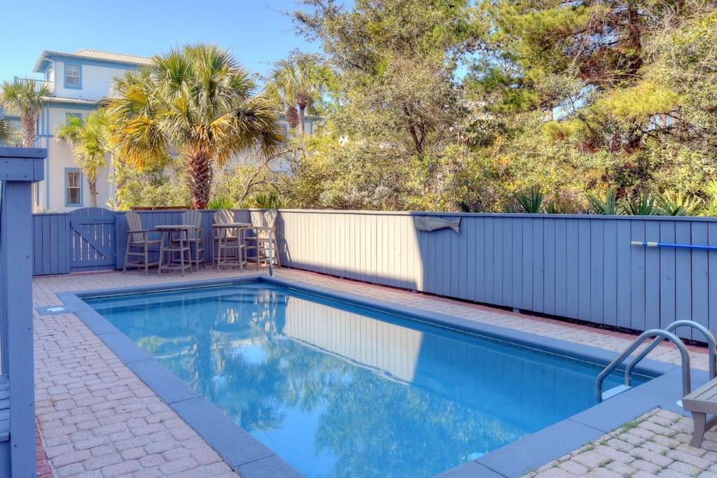 Heated In-ground Private Pool - Enjoy relaxing poolside and grilling out with the family on the gas grill after a day at the beach!