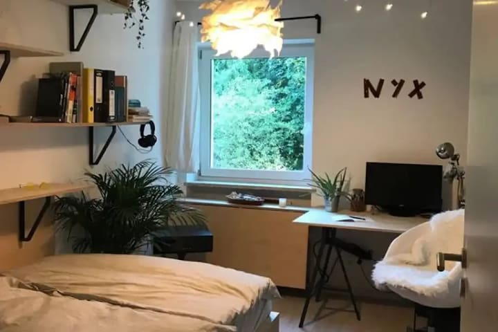 Stylish Bedroom in architects flat