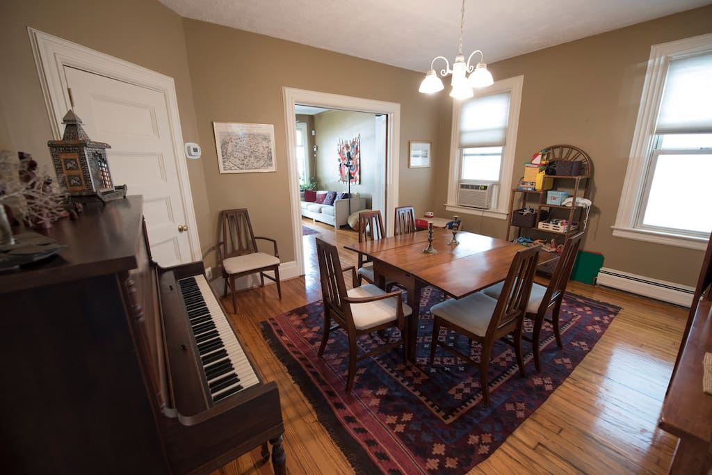 Dining room, with working piano