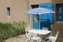 Sortie plain pied et terrasse privée