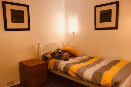 Private twin room in house