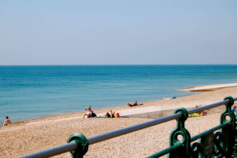 The beach a minute away