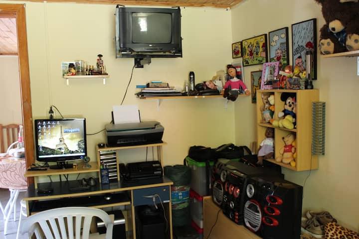 Simple room more comforting.