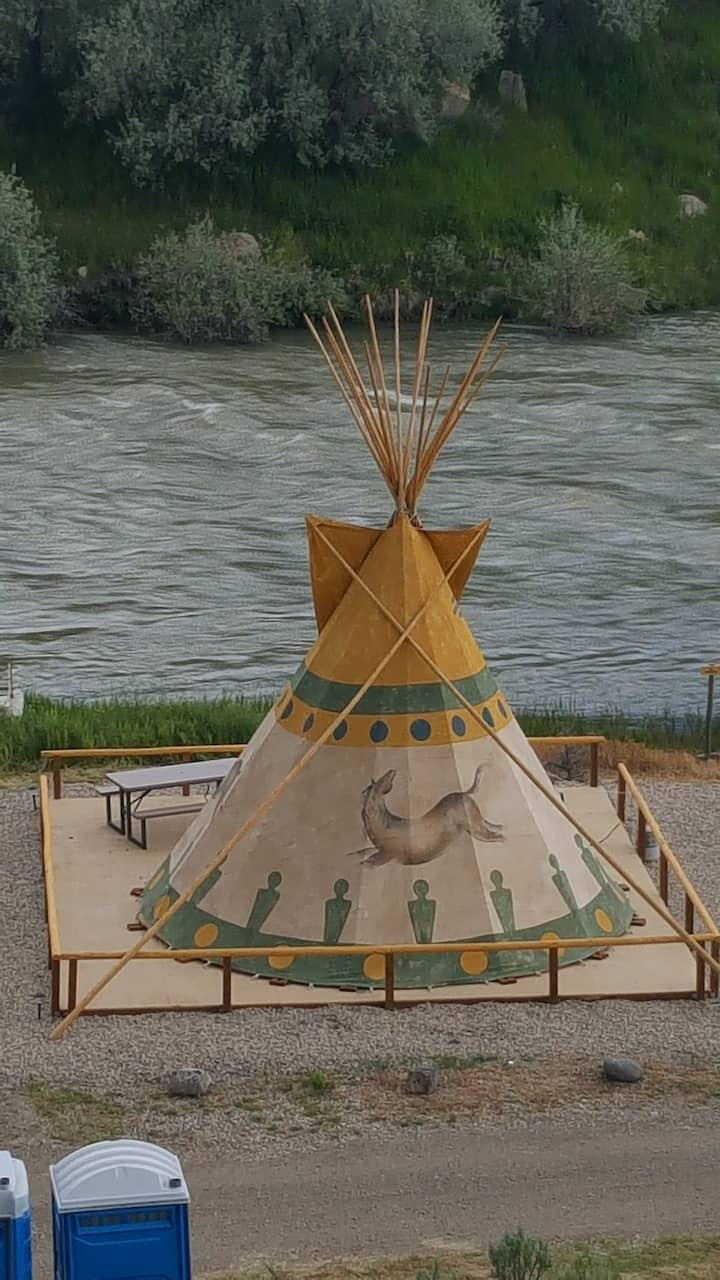 Cody Trout Ranch Camp Horse Tipi