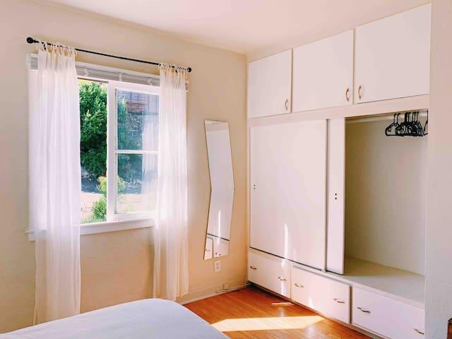 Bright & spacious closet space