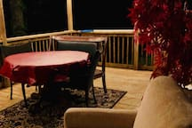 Another view of the porch deck.