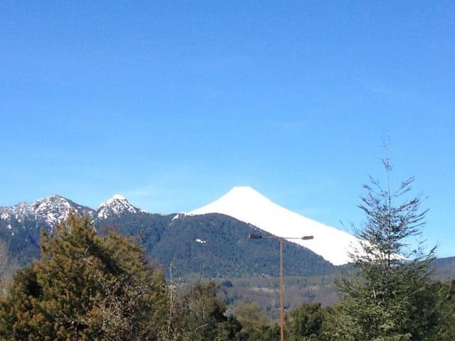 Vista volcán Villarrica