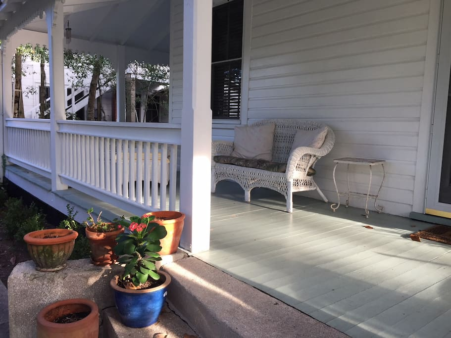 You are welcome to sit on the front porch.