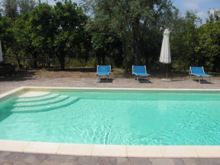 Apartment with pool Sorrento center