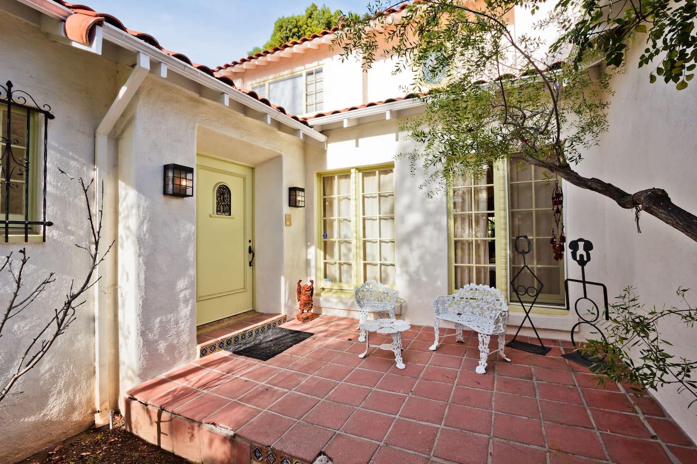 The front door - 1926 Spanish home