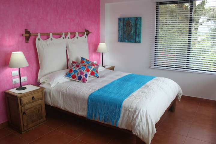 """""""Bugambilia"""" Room with Queen size bed, closet and washroom"""
