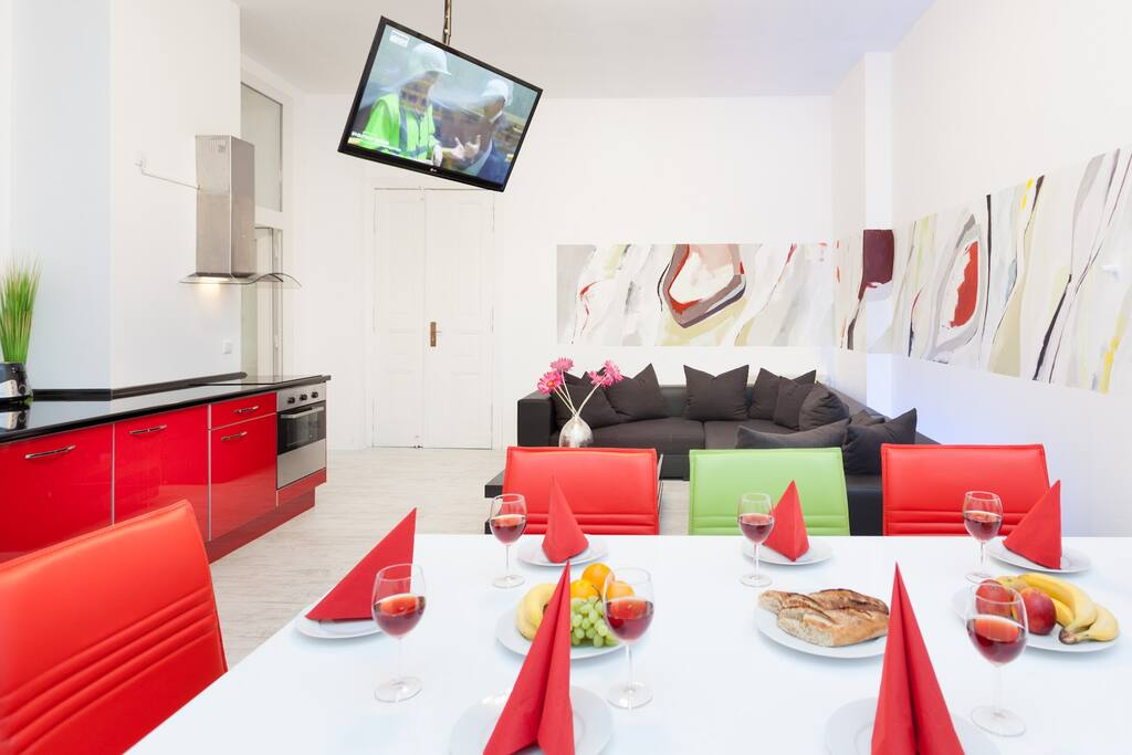Wonderful flat for 7 in the centre