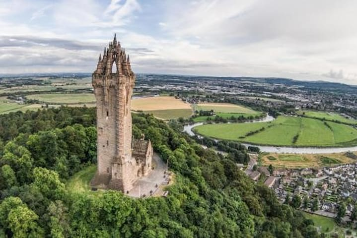 The spectacular Wallace Monument at Stirling.
